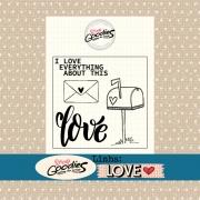 Clear Stamp - Carimbo LOVE