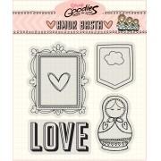 Clear Stamp Amor Basta - Moldura e Matrioska