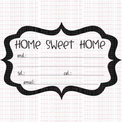 339 - Journaling Home Sweet Home by Macau  - SCRAP GOODIES