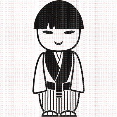 348 - Japonês kimono Listrado by LU ILARRI  - SCRAP GOODIES