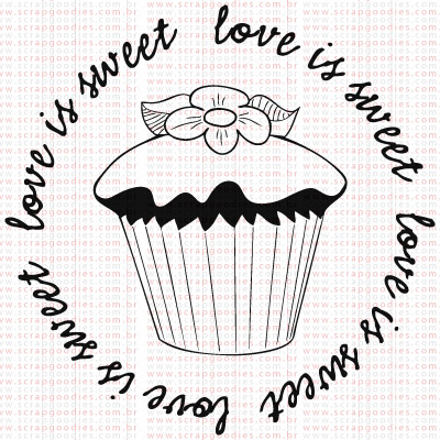 365 - Cupcake - love is sweet  - SCRAP GOODIES