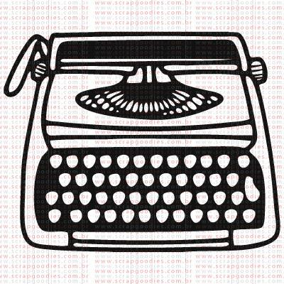375 - Máquina de escrever  - SCRAP GOODIES