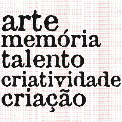 377 - Arte Memória Talento...  - SCRAP GOODIES