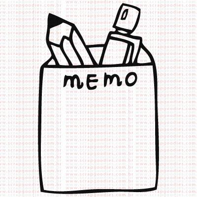 383 - Memo com lápis e lapiseira  - SCRAP GOODIES