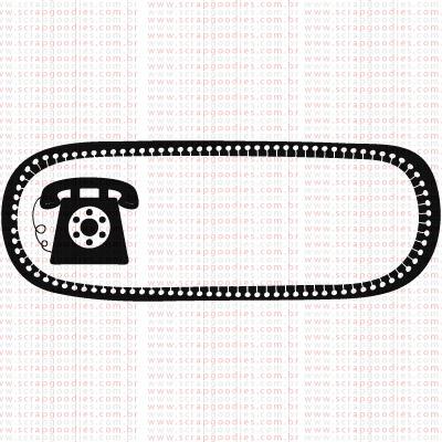 387 - Tag para telefone  - SCRAP GOODIES