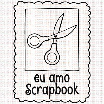 394 - Selo eu amo Scrapbook  - SCRAP GOODIES
