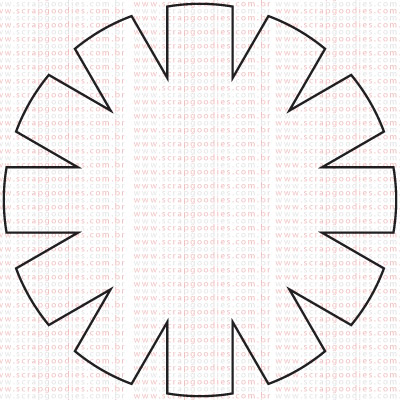 395 - Flor grande Vazada  - SCRAP GOODIES