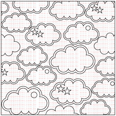 398 - Fundo com Nuvens  - SCRAP GOODIES