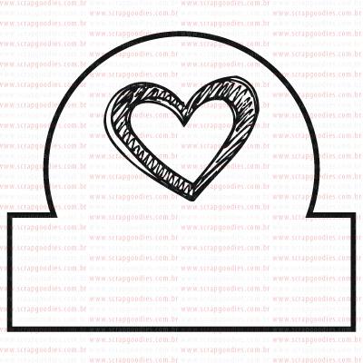 406 - Tab mini coraçãozinho  - SCRAP GOODIES