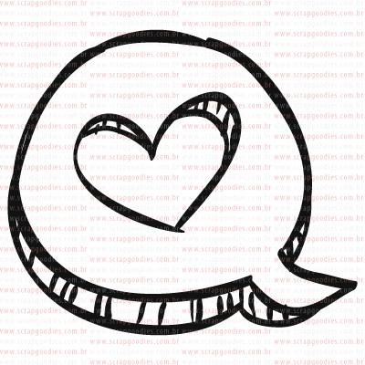 408 - Balãozinho com coração  - SCRAP GOODIES