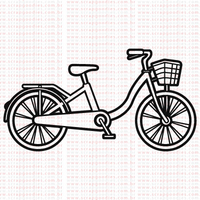 426 - Bicicleta com Cestinha  - SCRAP GOODIES