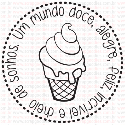 440 - Sundae Mundo Doce  - SCRAP GOODIES