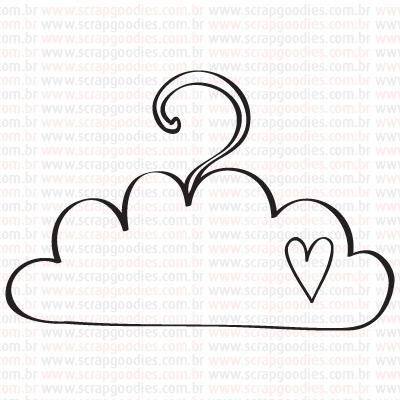 446 - Cabide de Nuvem  - SCRAP GOODIES
