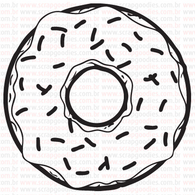 451 - Donut com Granulado  - SCRAP GOODIES