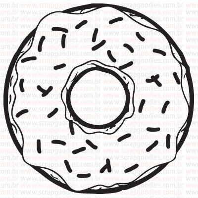 451 - Donut com Granulado  - SCRAP GOODIES