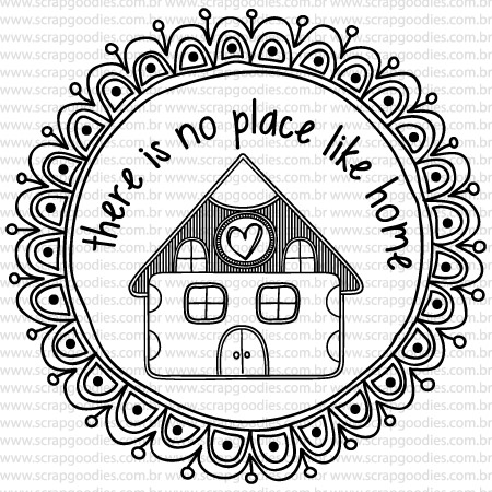 493 - Casa ´there is no place like home´  - SCRAP GOODIES