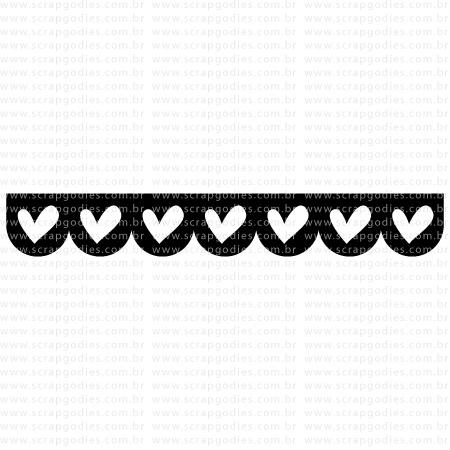 512 - Barra corações escalloped  - SCRAP GOODIES
