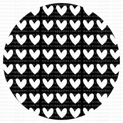 513 - Fundo circular corações  - SCRAP GOODIES