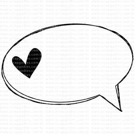 515 - Balão grande coração  - SCRAP GOODIES