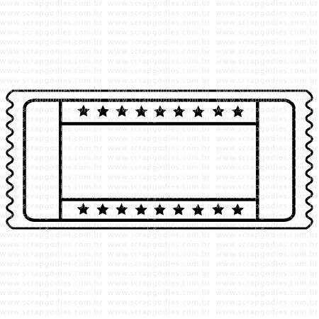 519 - Ticket estrelas  - SCRAP GOODIES