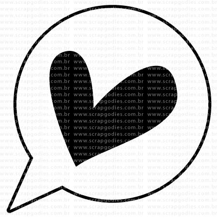 521 - Mini balão c coração  - SCRAP GOODIES