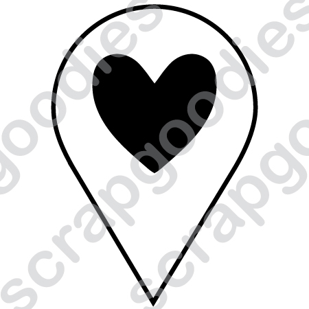 529 - Marcador coração  - SCRAP GOODIES