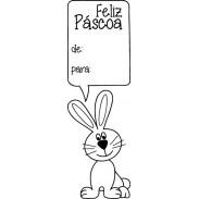 543 - Carimbo Páscoa - De: Para: com coelho  - SCRAP GOODIES