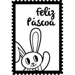 547 - Carimbo Páscoa - Selo com coelho  - SCRAP GOODIES