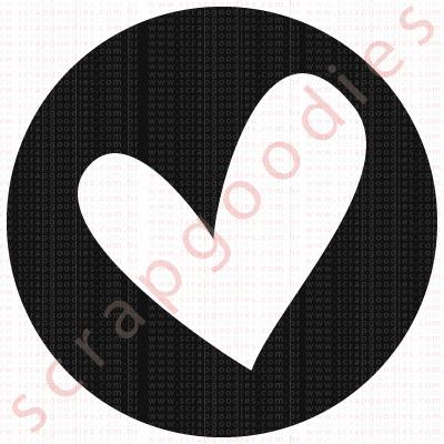 548 - Círculo com coração  - SCRAP GOODIES