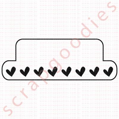 552 - tab quadrado com coraçõezinhos  - SCRAP GOODIES