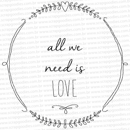 570A - All we need is love  - SCRAP GOODIES
