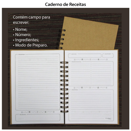 Caderno de Receitas  - SCRAP GOODIES