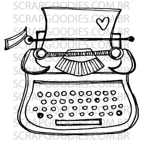 572 - Máquina de escrever 2  - SCRAP GOODIES