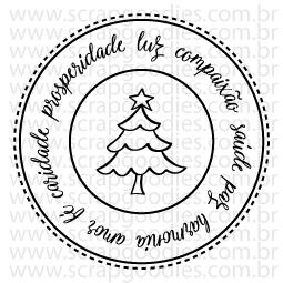 610 - Selo Desejos de Natal  - SCRAP GOODIES