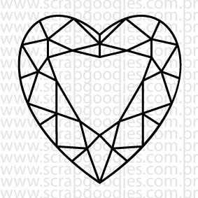 620 - Diamante coração  - SCRAP GOODIES