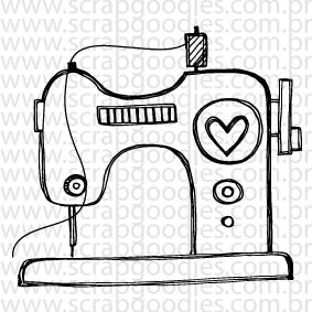 635 - Máquina de Costura com coração  - SCRAP GOODIES