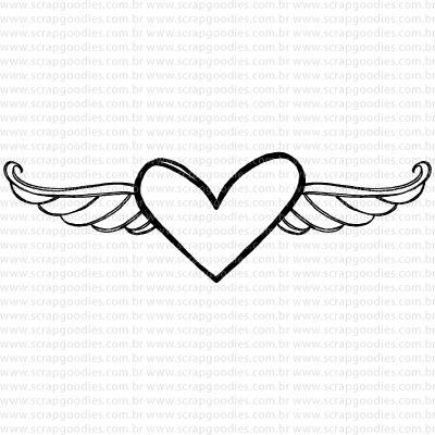 643 - Coração Alado 9GD  - SCRAP GOODIES