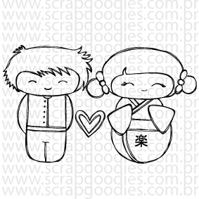 663 - casal de japoneses  - SCRAP GOODIES