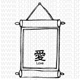 671 - Quadro kanji love  - SCRAP GOODIES