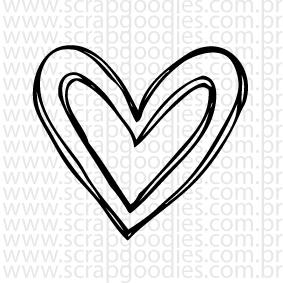 677 - Coraçãozinho duplo  - SCRAP GOODIES