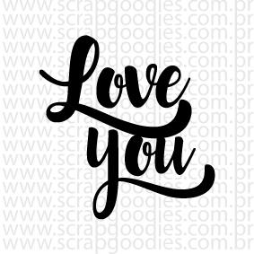676 - Love you lettering  - SCRAP GOODIES