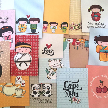 CARDS da linha LOVE JAPAN - 18 unidades diferentes!!!  - SCRAP GOODIES