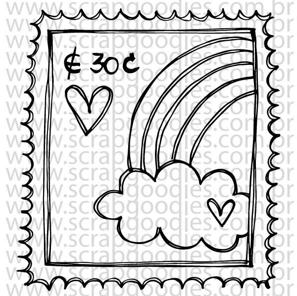 708 - Selo com arco-íris  - SCRAP GOODIES