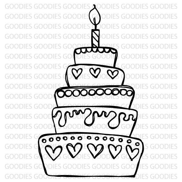 717 - Bolo aniversário  - SCRAP GOODIES