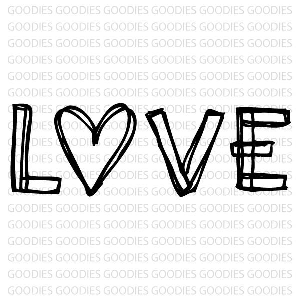 721 - LOVE  - SCRAP GOODIES