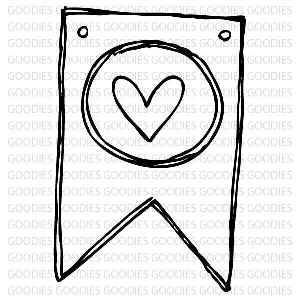 727 - Bandeira com coração  - SCRAP GOODIES