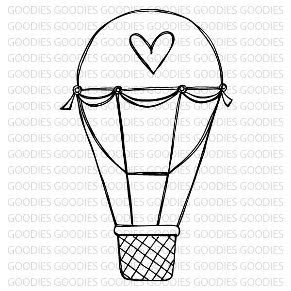 731 - Balão com coração  - SCRAP GOODIES