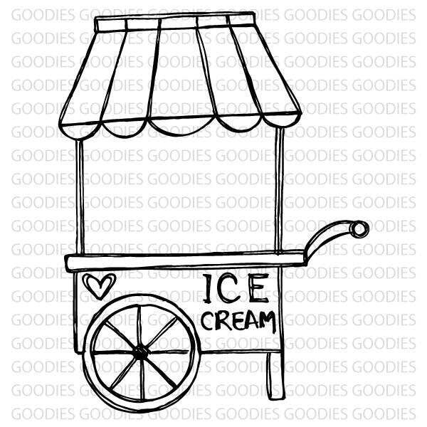 732 - Carrinho de sorvete  - SCRAP GOODIES