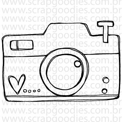 746 - Câmera fotográfica com coração  - SCRAP GOODIES