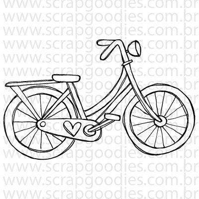 754 - Bicicleta com coração  - SCRAP GOODIES